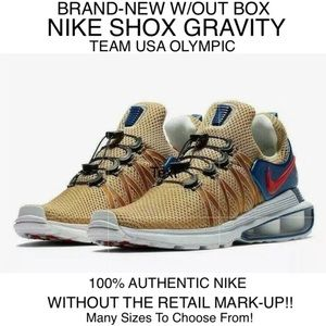 Nike Shox Gravity Men Gold Team USA Olympic SIZE 9